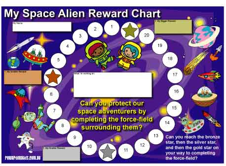 My Space Alien Reward Chart Download – Free Reward Charts to Download